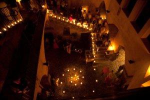Un momento del Rito della Luce dell'anno scorso al Castello dei Ventimiglia