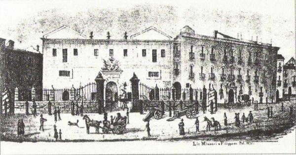 La Real Fonderia in una litografia del 1832