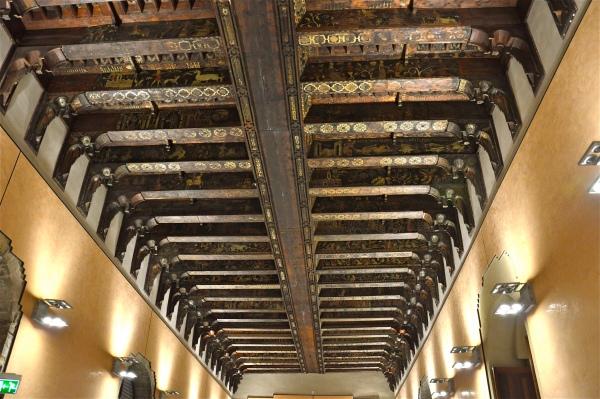 Soffitto ligneo nella Sala Magna dello Steri di costagar51