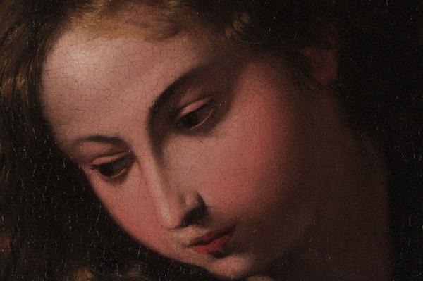 Santa Rosalia, dettaglio dell'opera di Pietro Novelli, foto tratta da https://www.creval.it/gallerie/eventi/santaRosaliaStampa.html