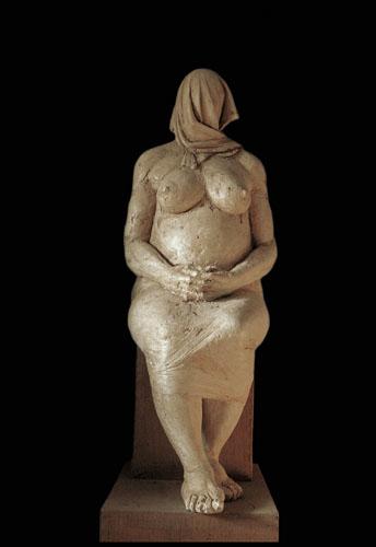 Grande Madre, Salvatore Rizzuti. Gesso, h com 165, 1986